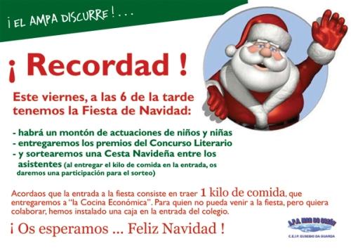 Cartel Fiesta de Navidad
