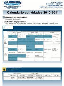 Cuadro conjunto de actidades 2010-2011