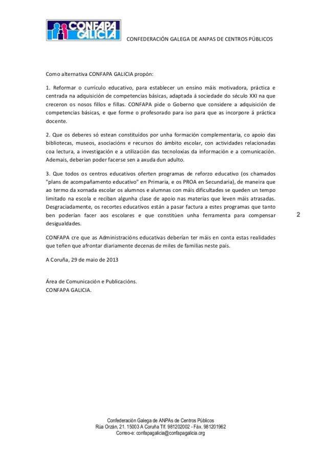 COMUNICADO DE PRENSA DEBERES 1305302