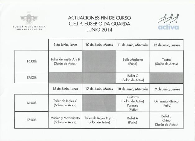 ACTIVA - ACTUACIONES FIN DE CURSO